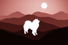 Southwest Mountains Samoyed Window Decal