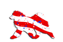 Stars & Stripes Flag Samoyed Window Decal
