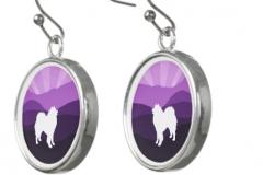Zazzle Matching Drop Earrings- Purple Mt. Series http://www.zazzle.com/samoyed_matching_drop_earrings-256826753514590668?rf=23819306347473139
