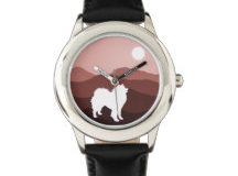 Zazzle Matching Stainless Watch - Southwest Mt. Series http://www.zazzle.com/samoyed_custom_stainless_steel_watch-256897740253859583?rf=238193063474731397