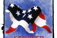 Pams Flag Samoyed Left http://www.cafepress.com/dd/104827297